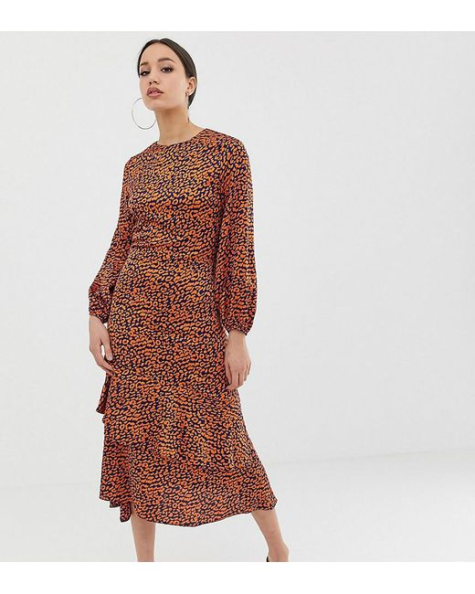 John Zack - Multicolor Midi Tea Dress In Contrast Leopard Print - Lyst ... b5c58a7f8