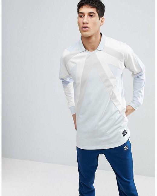 77d925272b3 Adidas Originals - Eqt 18 Long Sleeve T-shirt In Blue Cw4924 for Men ...