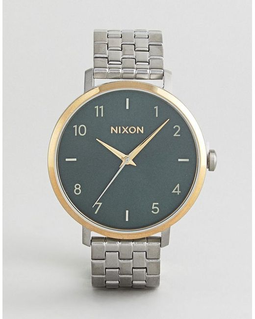Nixon - Metallic A1090 Arrow Bracelet Watch In Silver - Lyst