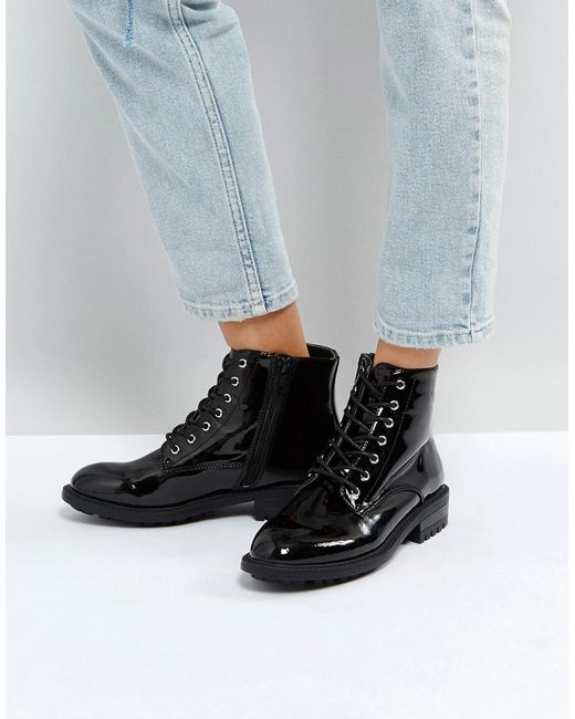 Faith | Black Brent Lace Up Boots | Lyst