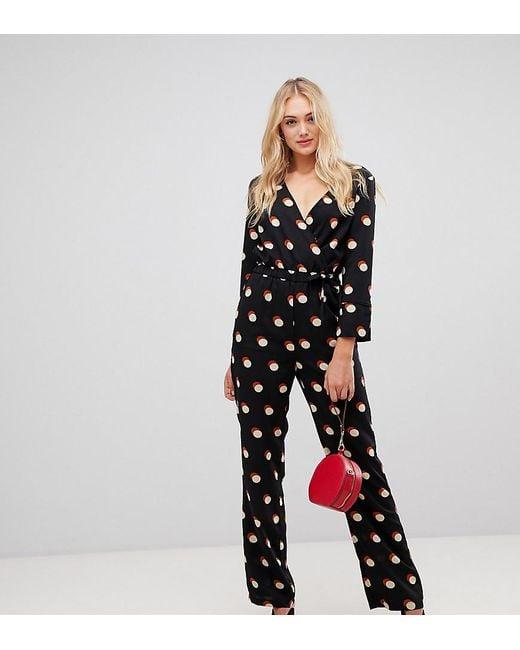 34e70c6e0bf9 Y.A.S - Black Polka Dot Jumpsuit - Lyst ...