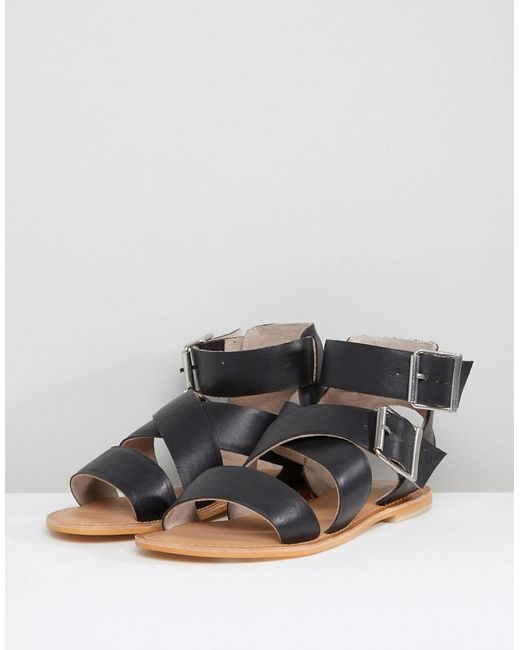 FARGO Leather Gladiator Flat Sandals very cheap price buy cheap comfortable W9hSOmn
