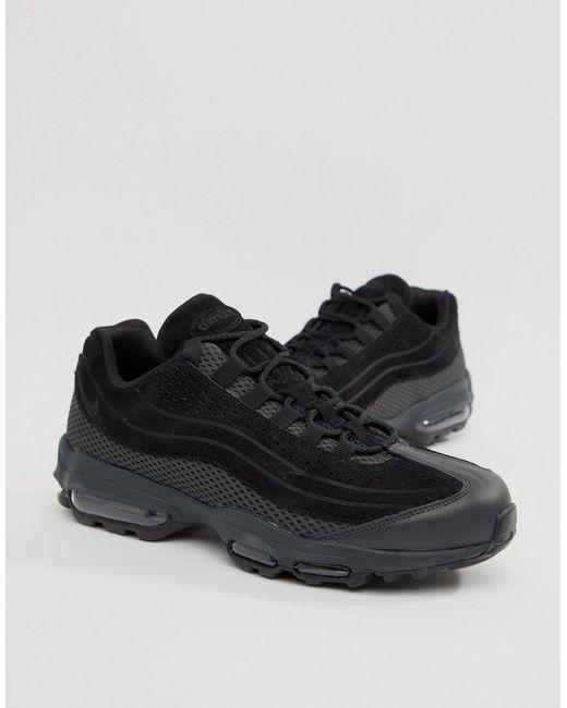 9ec8b148d7 Nike - Air Max 95 Ultra Premium Trainers In Black Ao2438-002 for Men ...