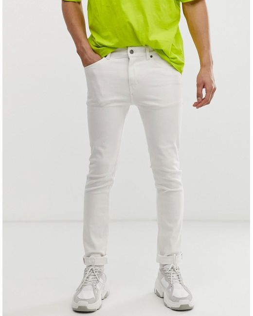 57529f268a4 Cheap Monday Tight Skinny Jeans In White in White for Men - Lyst
