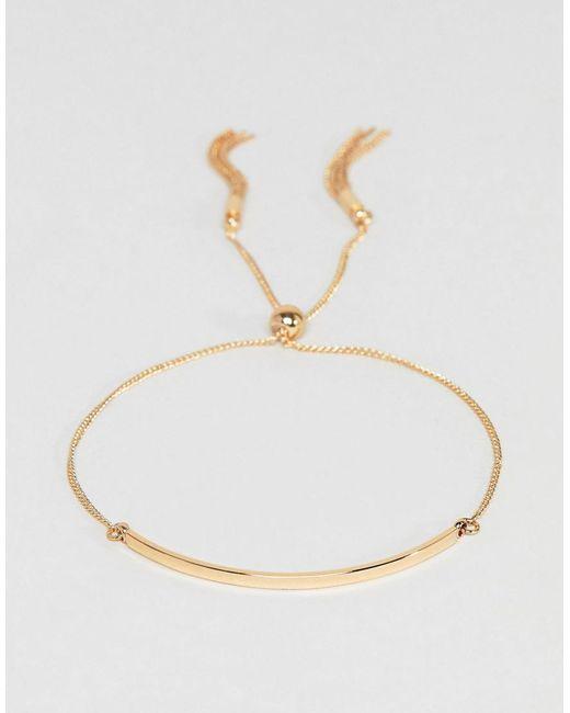 ASOS - Metallic Toggle Chain Metal Bar Bracelet - Lyst