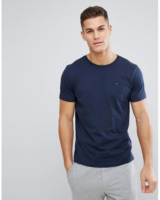 5b7ef9db5 Tommy Hilfiger - Blue Flag Icon T-shirt In Organic Cotton In Navy for Men  ...