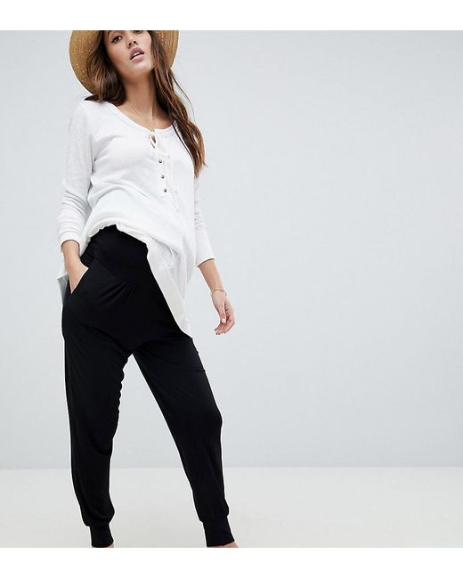 5f2b3cee92164 ASOS - Black Asos Design Maternity Over The Bump Ultimate Jersey Harem  Trousers - Lyst ...