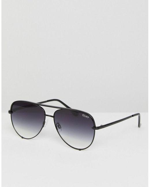 9aa9be8a19f19 Quay - X Desi High Key Mini Aviator Sunglasses In Black Fade for Men - Lyst  ...