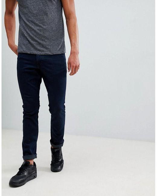 Mango - Man Slim Jeans In Dark Blue for Men - Lyst