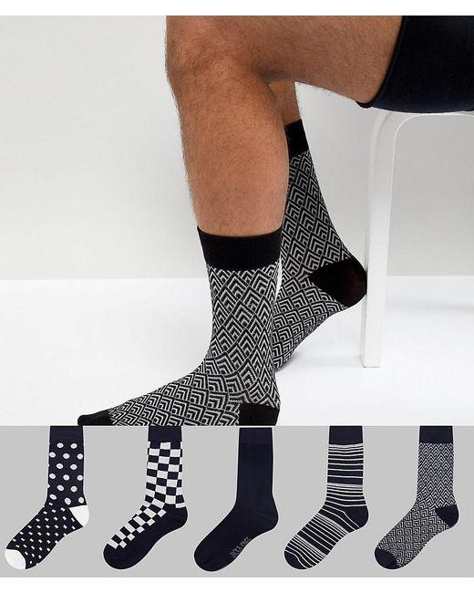 Jack & Jones - Multicolor 5 Pack Socks for Men - Lyst