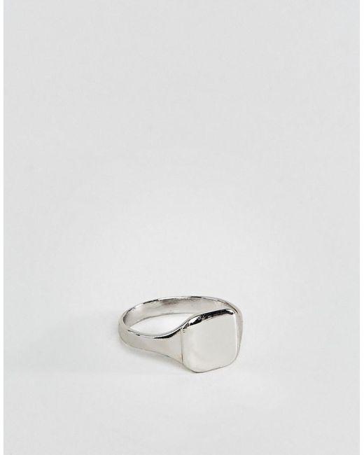 ASOS - Metallic Silberfarbener Ring für den kleinen Finger for Men - Lyst