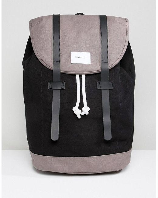 Sandqvist - Black Stig Backpack In Large for Men - Lyst