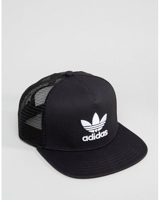 Trefoil Trucker In Black BK7308 - Black adidas Originals a8glAm6