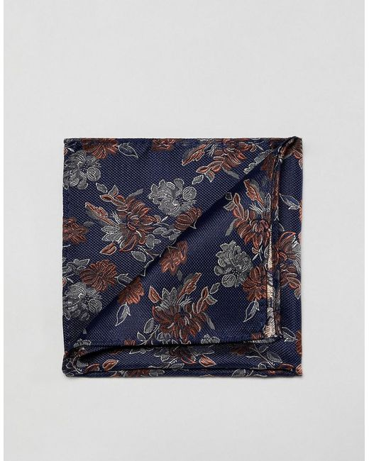 French Connection - Blue Pochette fleurs for Men - Lyst