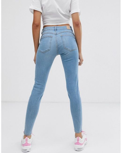 bf575b299a0 Bershka Push Up Jeans In Blue in Blue - Lyst