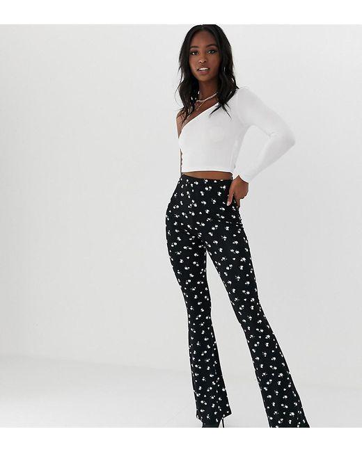 d5477c601b13b ASOS - Black Asos Design Tall Flare leggings In Ditsy Print - Lyst ...
