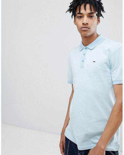 2973260c Tommy Hilfiger - Summer Oxford Polo Flag Logo In Light Blue for Men - Lyst  ...