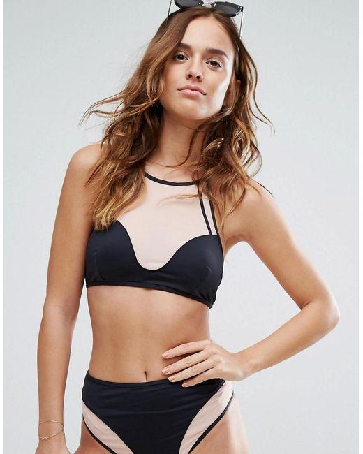 Evil Twin - Black Illusion Mesh Bikini Top - Lyst