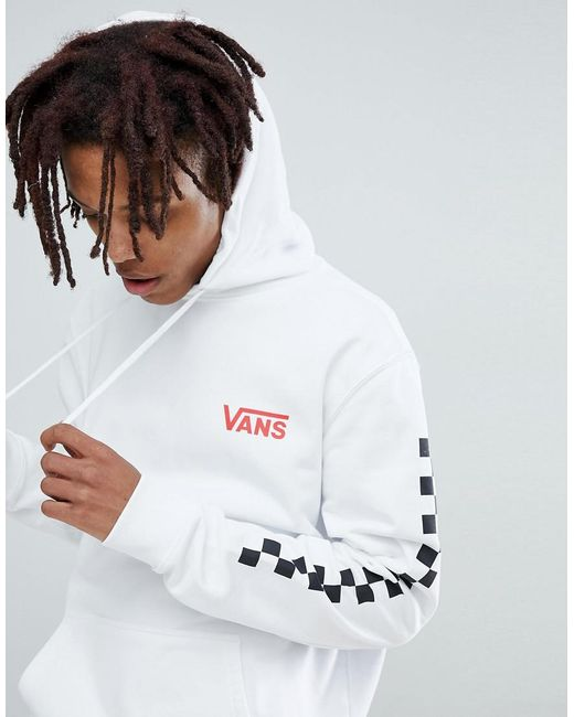 Vans - Heritage Hoodie With Arm Print In White for Men - Lyst