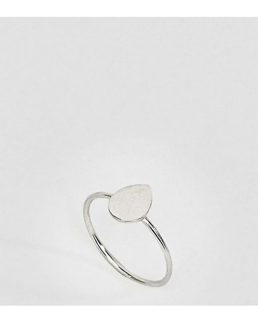 Kingsley Ryan - Metallic Kinglsey Ryan Sterling Silver Teardrop Ring - Lyst