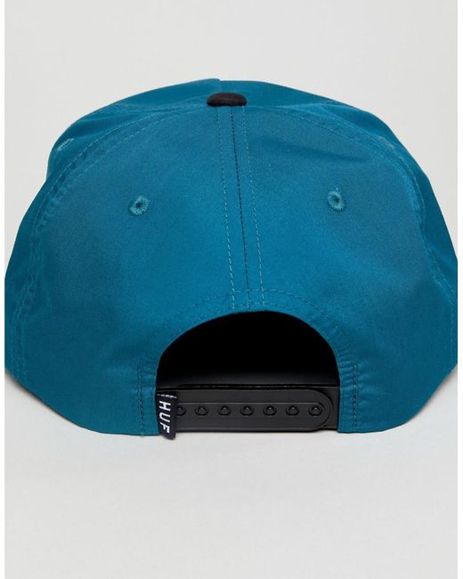 Bar Logo Snapback Cap In Blue - Blue HUF