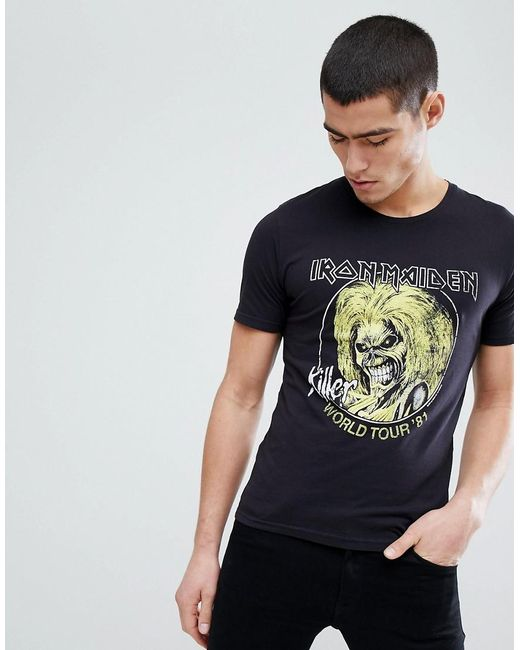Only & Sons - Black Iron Maiden T-shirt for Men - Lyst