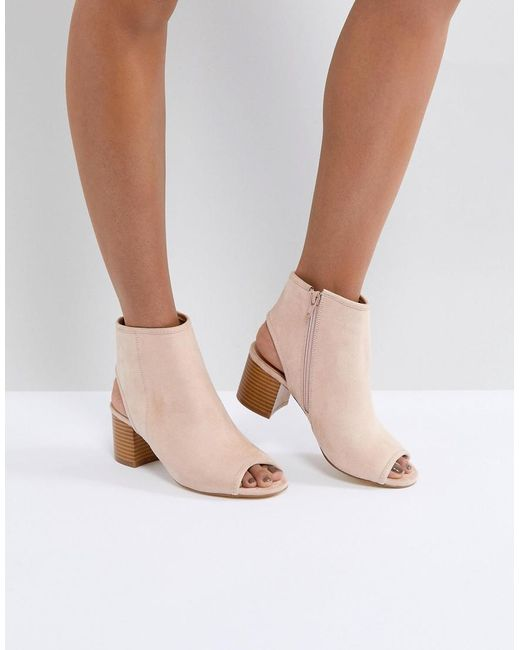 London Rebel - Natural Peep Toe Sandal - Lyst