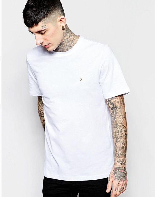 Farah - Logo T-shirt In White - White for Men - Lyst