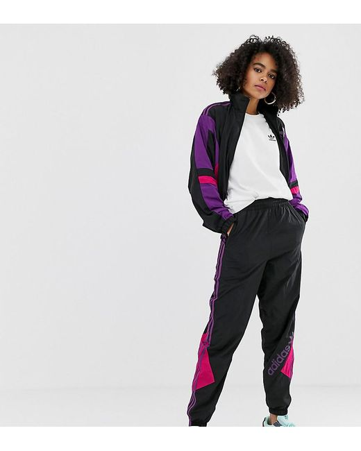 15e0f5334 Adidas Originals - Black Linear Logo Track Pants - Lyst ...
