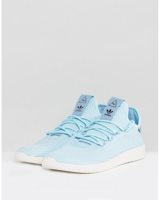 45905706b Adidas Originals X Pharrell Williams Tennis Hu Trainers In Blue Cp9764 Lyst  .