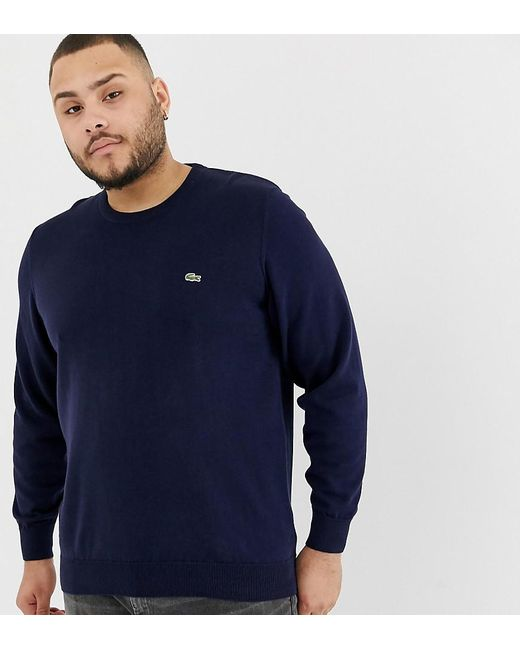 d9e1c0757f1a8e Lacoste Plus Crew Neck Sweater In Navy in Blue for Men - Save 31% - Lyst