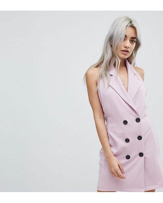 John Zack - Pink Sleeveless Tuxedo Dress - Lyst
