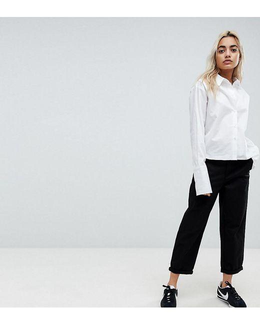 7157fc8a071c1b Lyst - ASOS Asos Design Petite Chino Trousers In Black in Black