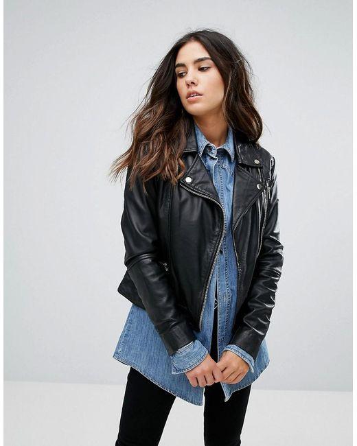 Lyst - Barney's originals Leather Quilted Biker Jacket in Black : leather quilted biker jacket - Adamdwight.com