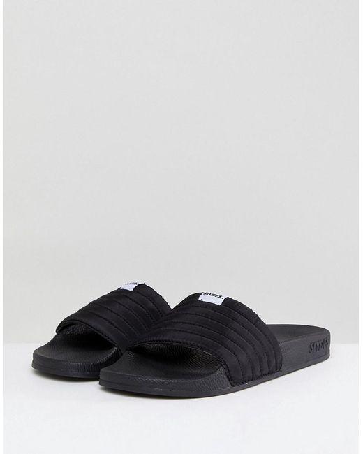 Slydes - Black West Quilted Slider Flip Flops for Men - Lyst