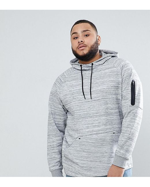 Only & Sons - Gray Plus Hoodie With Technical Arm Pocket for Men - Lyst