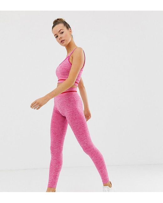 450d462cd8162 South Beach Seamless Leggings In Pink And Red in Pink - Lyst