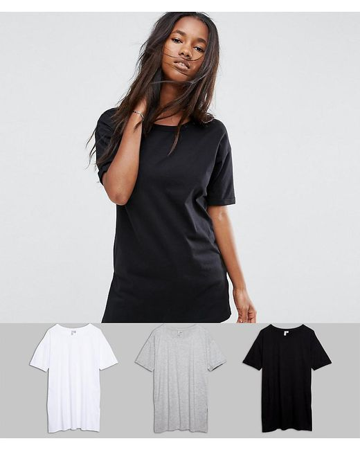 ASOS   Multicolor Ultimate Easy Boyfriend T-shirt 3 Pack Save 20%   Lyst
