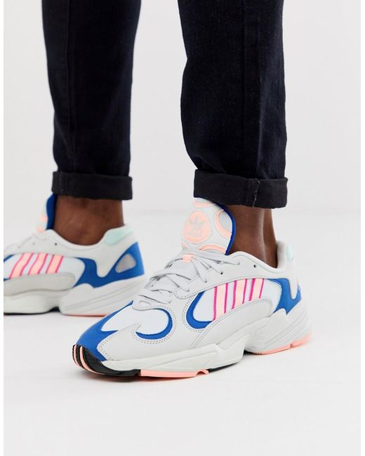 size 40 f8b0d d4751 Adidas Originals - Yung-1 Sneakers In White for Men - Lyst ...