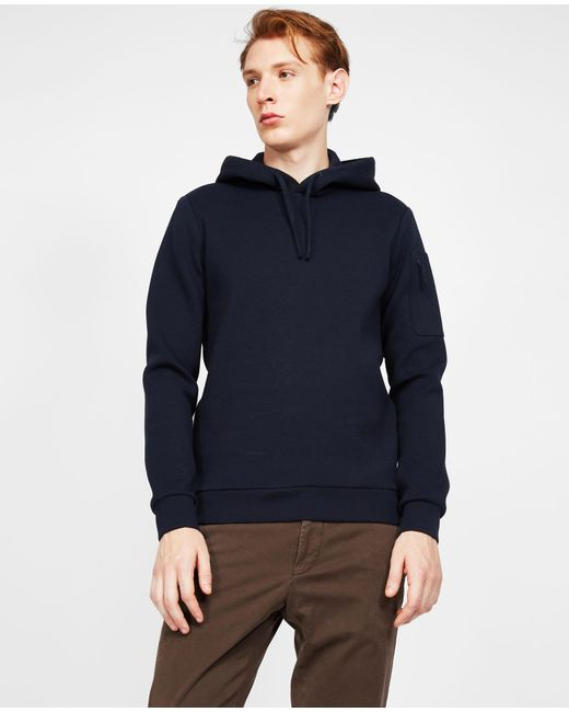 Aspesi - Blue Laser Cut Taped Seams Jersey Sweatshirt for Men - Lyst