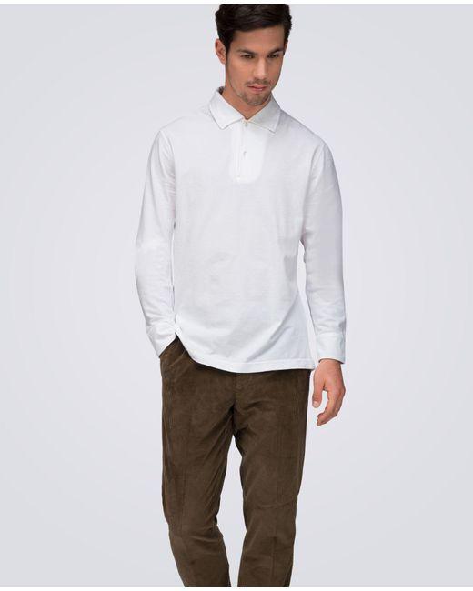 Aspesi   White Jersey Poloshirt Moday03 for Men   Lyst