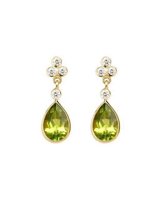 Aspinal - Yellow Aphrodite Teardrop Earrings - Lyst