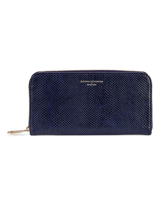 Aspinal - Blue Continental Clutch Zip Wallet - Lyst