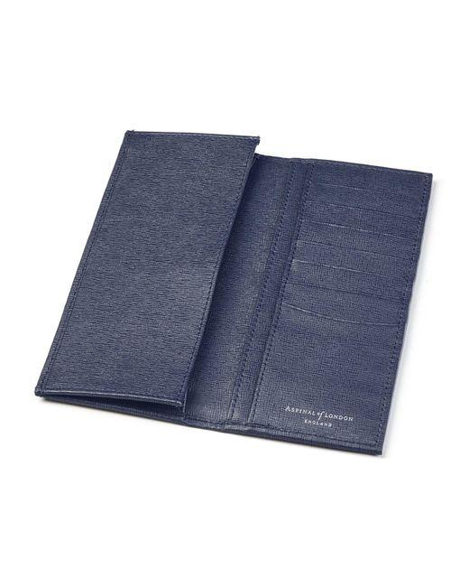 Aspinal - Blue Slim Breast Pocket Wallet - Lyst