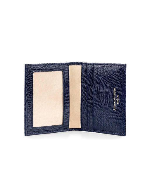 Aspinal - Blue Id & Travel Card Case - Lyst