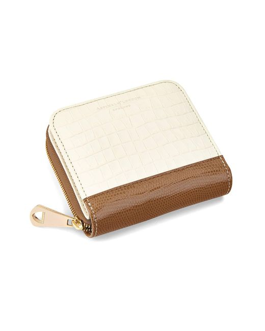 Aspinal - White Mini Continental Zipped Coin Purse - Lyst