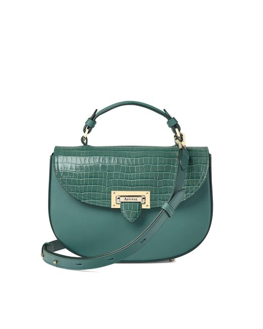 Aspinal - Green The Letterbox Saddle Bag - Lyst