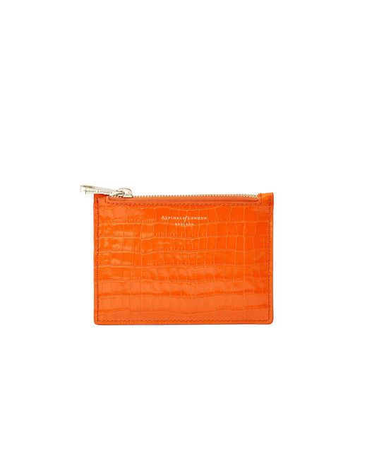 Aspinal - Orange Small Essential Flat Pouch - Lyst