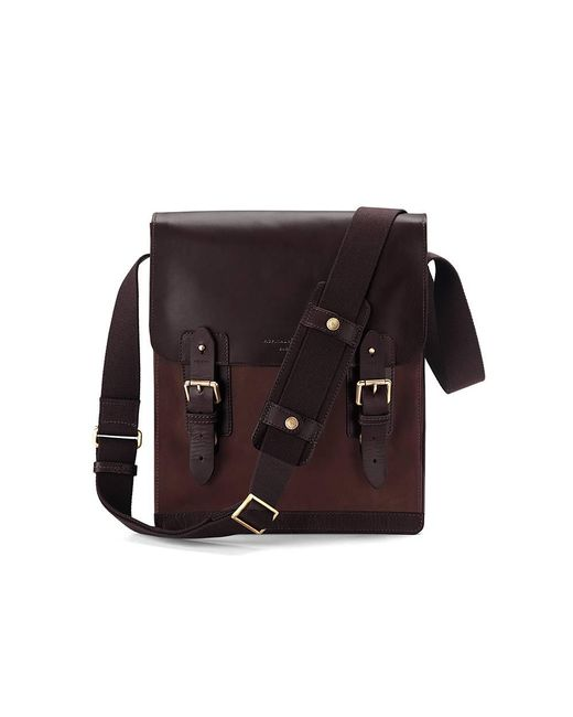 Aspinal - Brown Shadow Messenger Small for Men - Lyst
