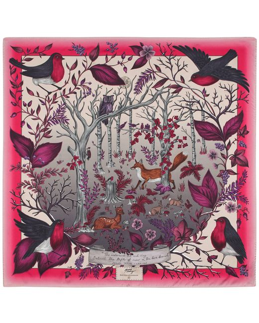 Aspinal - Multicolor The Dockery Robin Silk Scarf - Lyst